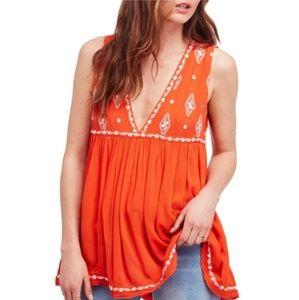 Free People Dresses - Free People Flame Combo Mini Swing Dress Top 3281